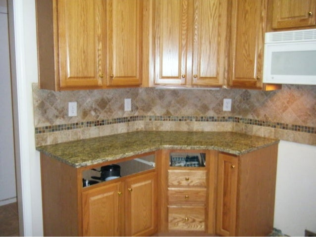 4x4 Noce Travertine Tile Backsplash Designs For Kitchens