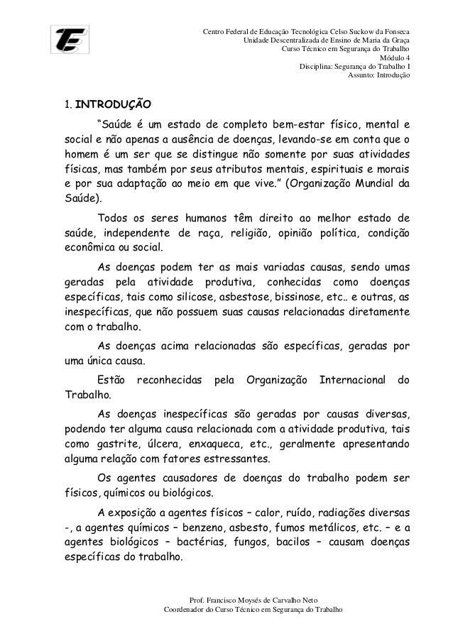 Centro Federal de Educação Tecnológica Celso Suckow da Fonseca Unidade Descentralizada de Ensino de Maria da Graça Curso T...