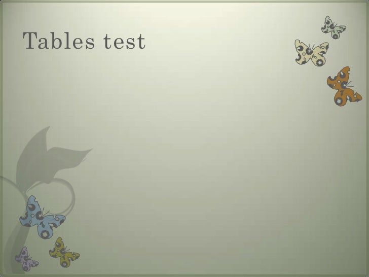 Tables test