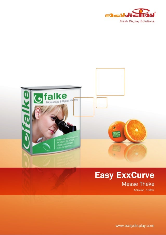 Easy ExxCurve Messe Theke Artikelnr.: 10087 www.easydisplay.com