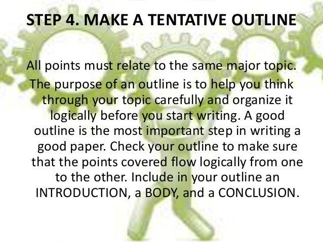 How to Write a Tentative Outline