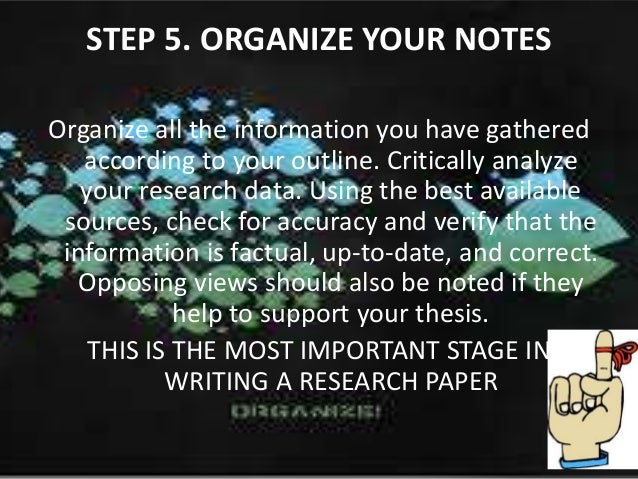 organizing a research paper ppt Start with the end in mind before you even open up powerpoint preparation tips 1 scratch out their ideas and objectives with a pen and paper.
