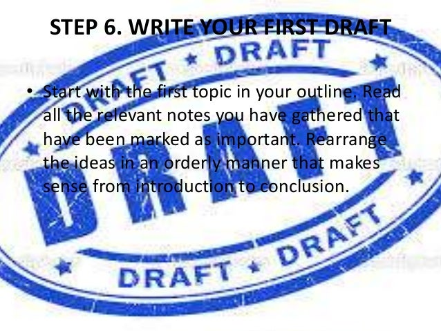 Marvelous First Draft Of A Research Paper Writing The First Draft Image Titled Write  A Last Minute