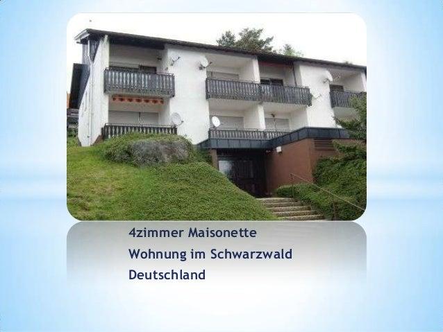 4zimmer Maisonette Wohnung im Schwarzwald Deutschland