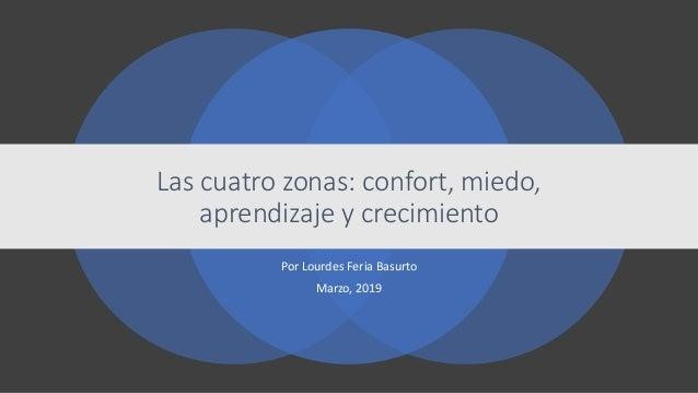 Por Lourdes Feria Basurto Marzo, 2019 Las cuatro zonas: confort, miedo, aprendizaje y crecimiento