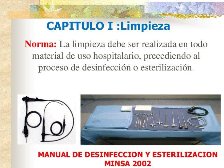 Conceptos modernos esterilizaci n y desinfeccion cicat salud for Manual de limpieza y desinfeccion en restaurantes