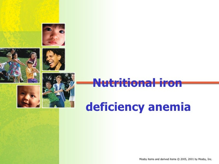 Nutritional iron deficiency anemia
