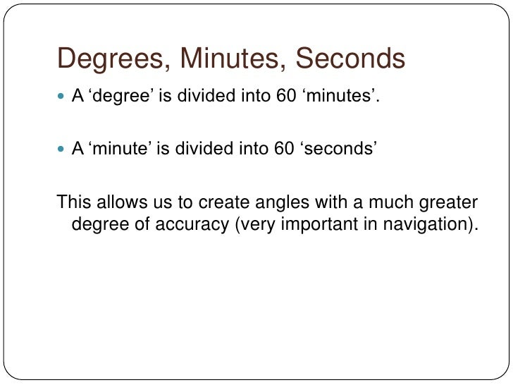 how to write angles in degrees minutes and seconds