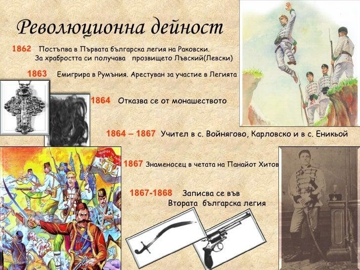 1863   Емигрира в Румъния. Арестуван за участие в Легията 1864  Отказва се от монашеството 1864 – 1867   Учител в с. Войня...