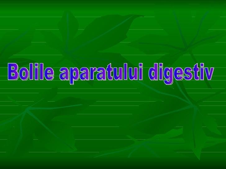 boli ale sistemului digestiv prezentare power point