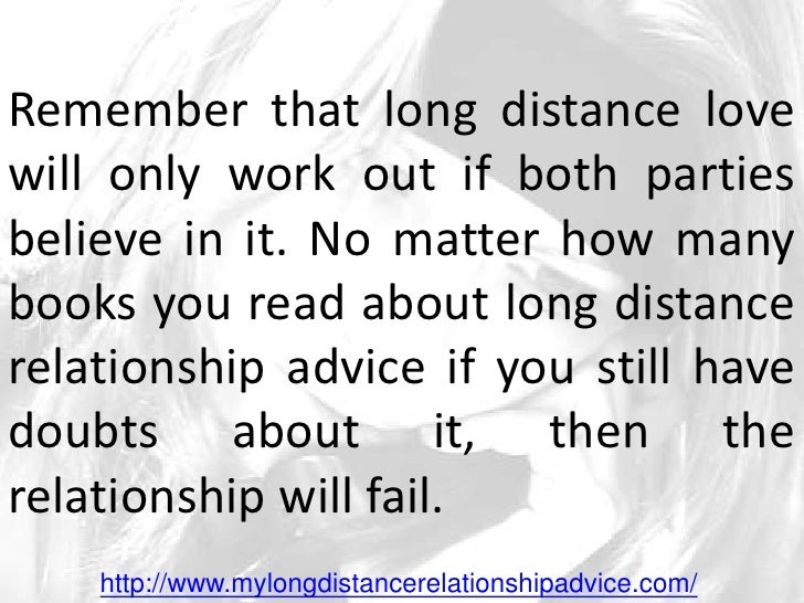 Long distance dating advice