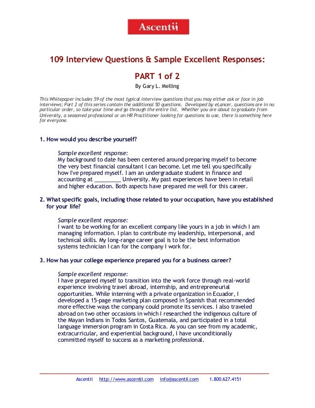 5 109 Interview Questions And Answers - Part 1 Of 2