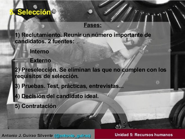 Antonio J. Guirao SilventeAntonio J. Guirao Silvente (@antonio_guirao)(@antonio_guirao) Unidad 5: Recursos humanos Fases: ...