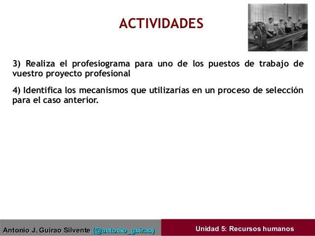 Antonio J. Guirao SilventeAntonio J. Guirao Silvente (@antonio_guirao)(@antonio_guirao) Unidad 5: Recursos humanos ACTIVID...