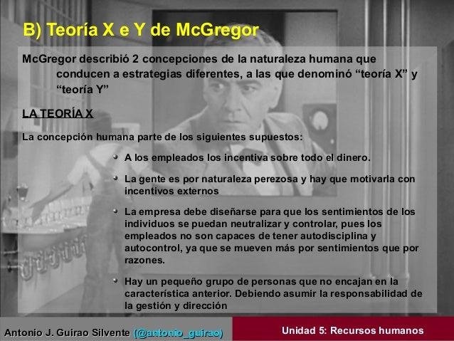 Antonio J. Guirao SilventeAntonio J. Guirao Silvente (@antonio_guirao)(@antonio_guirao) Unidad 5: Recursos humanos McGrego...