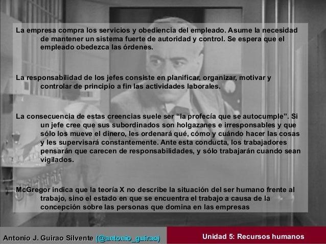 Antonio J. Guirao SilventeAntonio J. Guirao Silvente (@antonio_guirao)(@antonio_guirao) Unidad 5: Recursos humanos La empr...