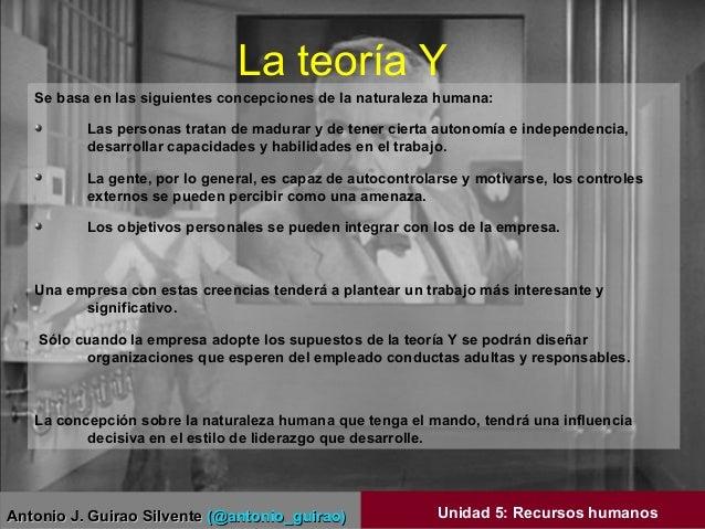 Antonio J. Guirao SilventeAntonio J. Guirao Silvente (@antonio_guirao)(@antonio_guirao) Unidad 5: Recursos humanos La teor...