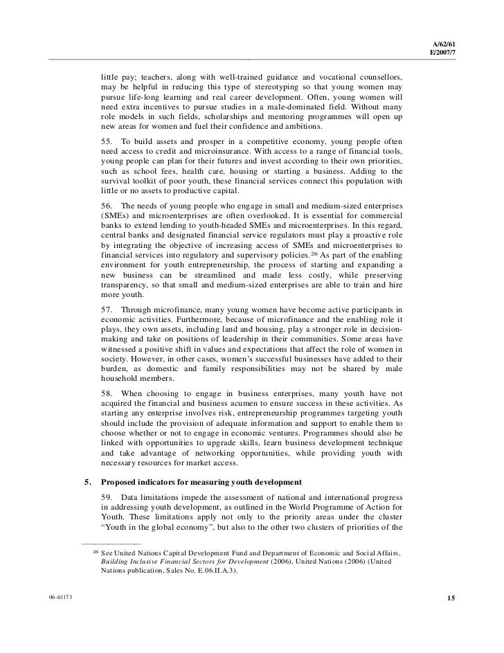 world programme of action for youth pdf