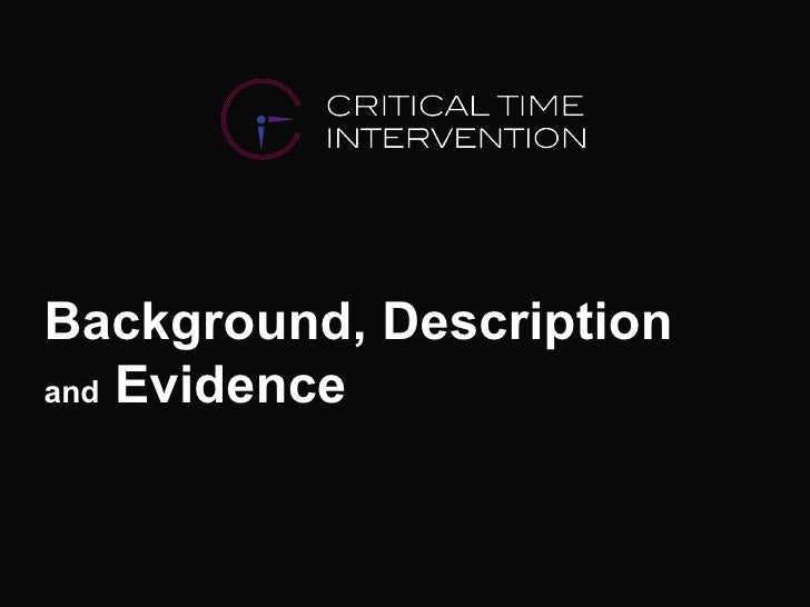 Background, Description  and  Evidence