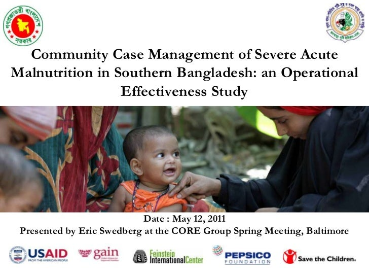 Community Case Management of Severe Acute Malnutrition in Southern Bangladesh: an Operational Effectiveness Study<br />Dat...