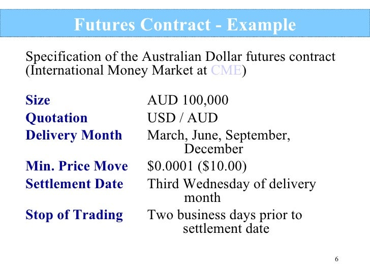 Currency options trading example