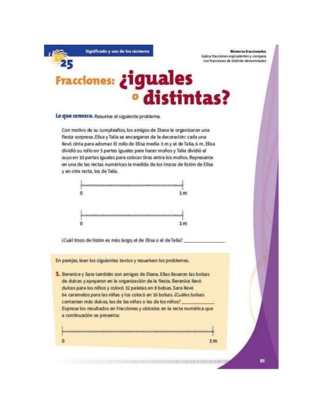 Fracciones¿iguales o distintas?
