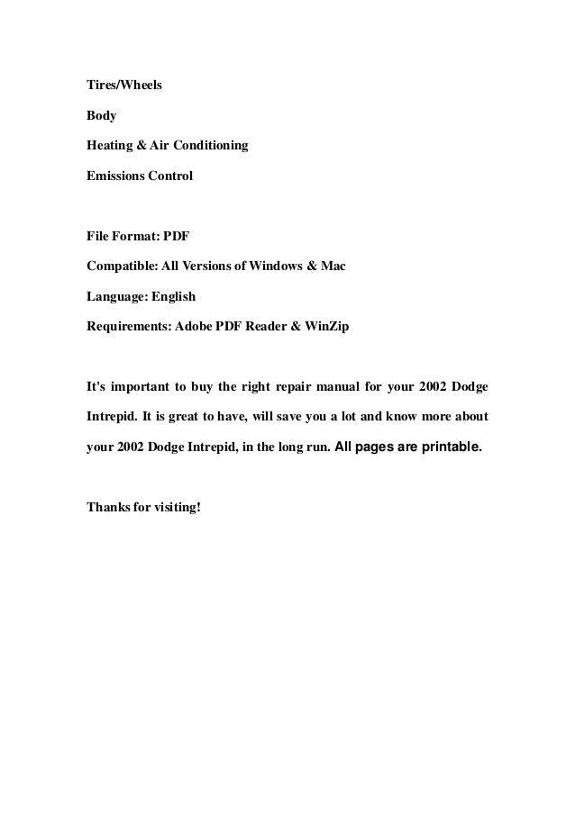 2002 dodge intrepid service repair manual download