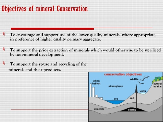 how can you conserve mineral resources