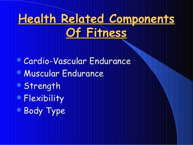 5.3 components of fitness
