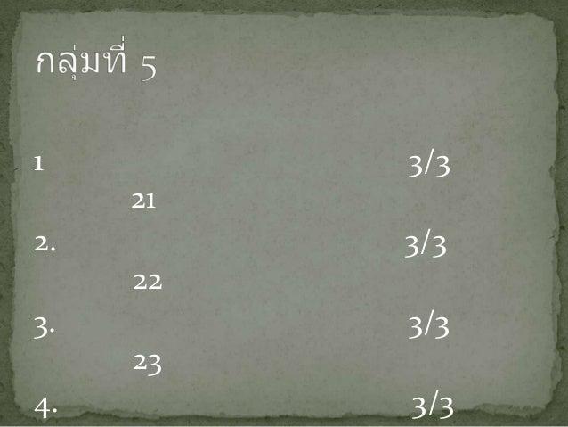 1 3/3 21 2. 3/3 22 3. 3/3 23 4. 3/3