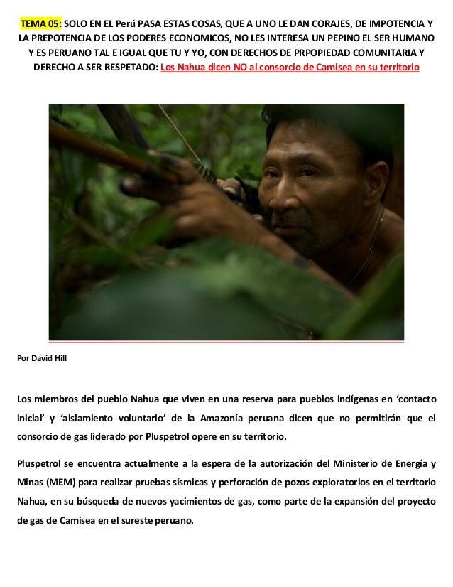 TEMA 05: SOLO EN EL Perú PASA ESTAS COSAS, QUE A UNO LE DAN CORAJES, DE IMPOTENCIA Y LA PREPOTENCIA DE LOS PODERES ECONOMI...