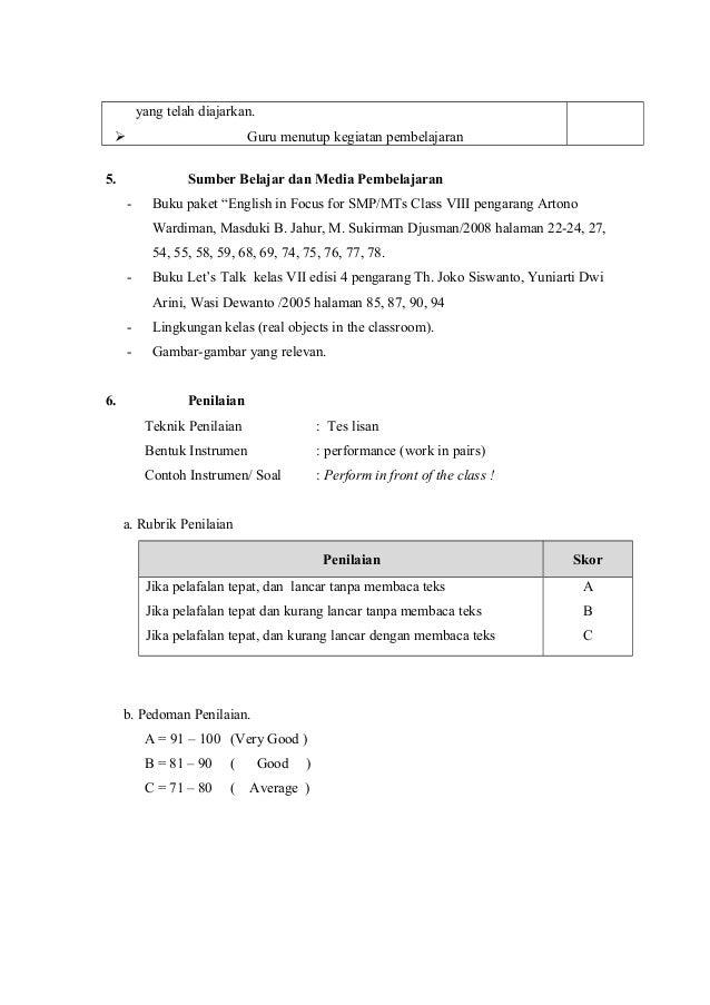 Contoh Dialog Bahasa Inggris Kelas 7 - Contoh II
