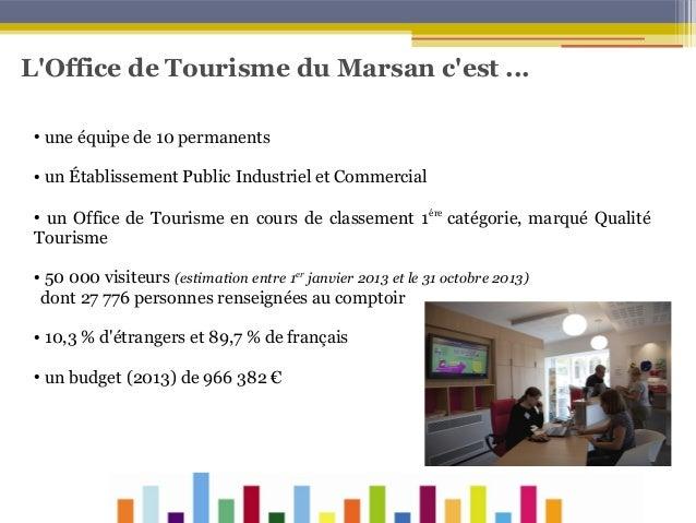 L'Office de Tourisme du Marsan c'est ... ●  une équipe de 10 permanents  ●  un Établissement Public Industriel et Commerci...