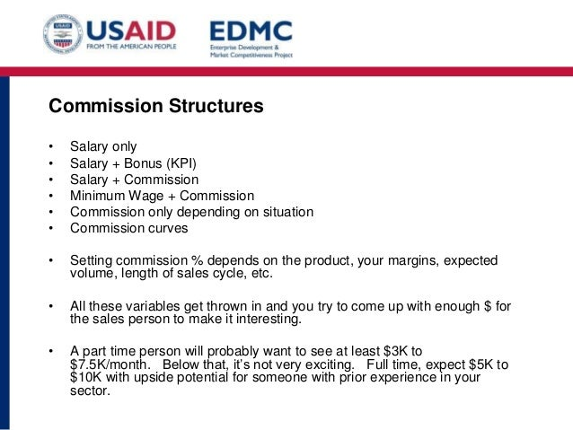 Sales Commision Structure Template