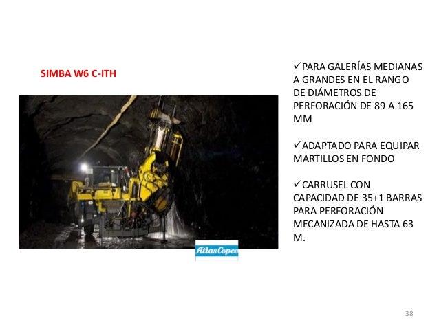 SIMBA W6 C-ITH  PARA GALERÍAS MEDIANAS A GRANDES EN EL RANGO DE DIÁMETROS DE PERFORACIÓN DE 89 A 165 MM ADAPTADO PARA EQ...