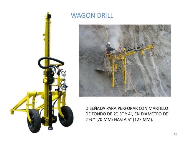 """WAGON DRILL  DISEÑADA PARA PERFORAR CON MARTILLO DE FONDO DE 2"""", 3"""" Y 4"""", EN DIAMETRO DE 2 ¾ """" (70 MM) HASTA 5"""" (127 MM). ..."""