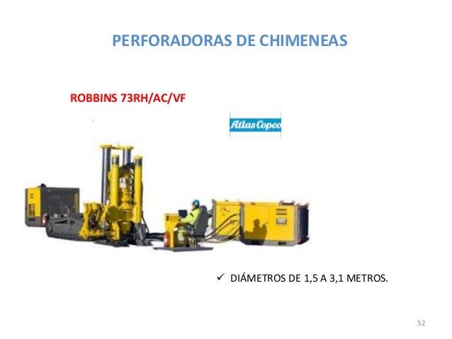 PERFORADORAS DE CHIMENEAS ROBBINS 73RH/AC/VF   DIÁMETROS DE 1,5 A 3,1 METROS.  52