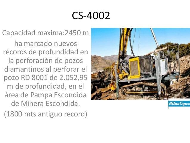 CS-4002 Capacidad maxima:2450 m ha marcado nuevos récords de profundidad en la perforación de pozos diamantinos al perfora...
