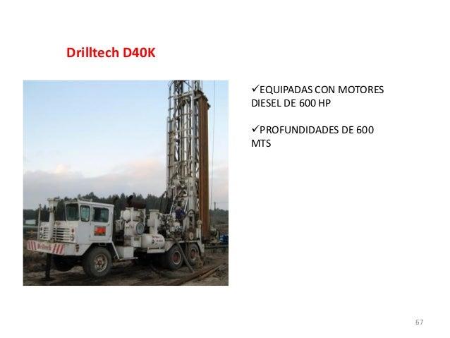 Drilltech D40K EQUIPADAS CON MOTORES DIESEL DE 600 HP PROFUNDIDADES DE 600 MTS  67