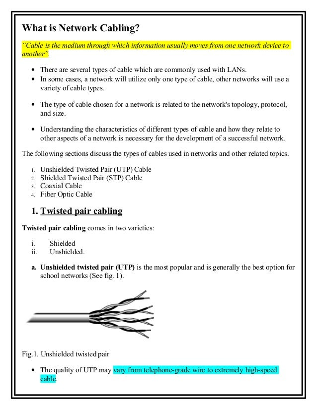 5. what is network cabling
