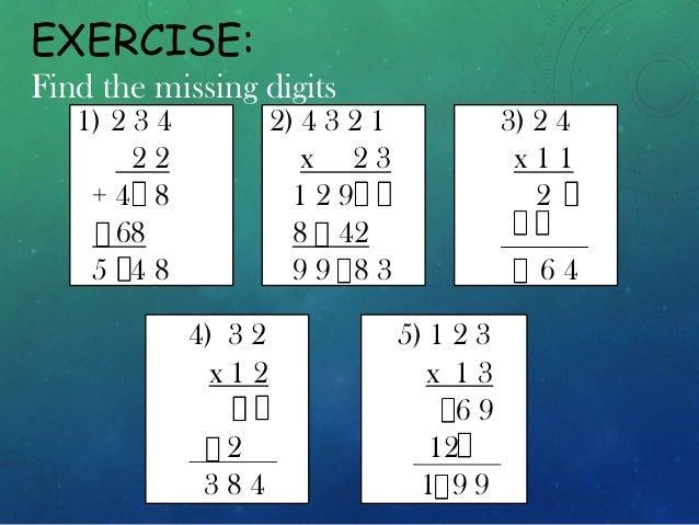 find the missing number worksheets