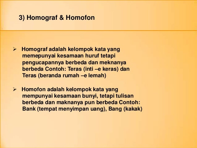 Contoh Kalimat Berhomonim Homofon Dan Homograf Contoh Soal2