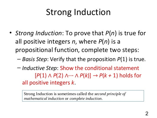 5.2 Strong Induction