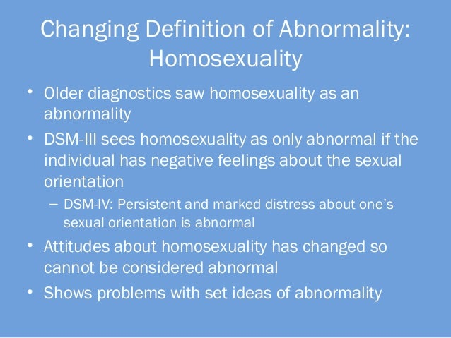 Psychology view on homosexuality