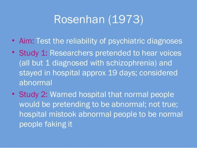 Rosenhan Experiment Essay - 1216 Words
