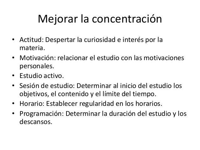 Atenci n concentraci n y memoria - Mejorar concentracion estudio ...