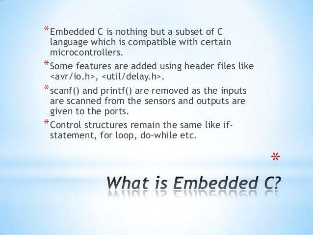 Programming ATmega microcontroller using Embedded C Slide 2