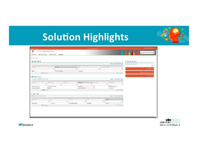 #AIIM14   SoluIon  Highlights