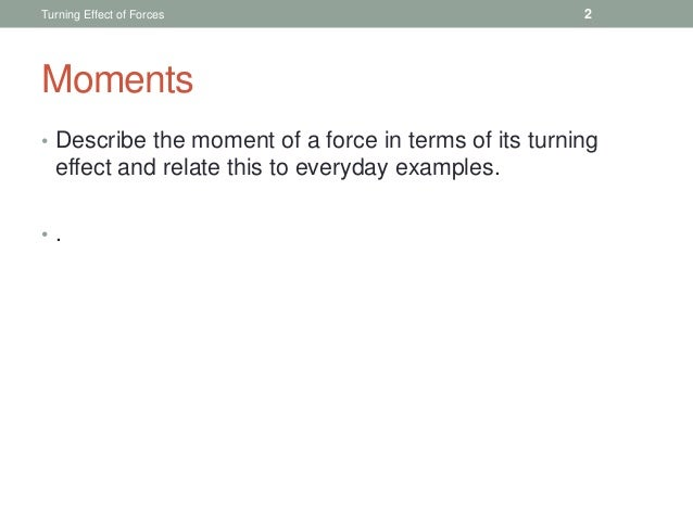 Turning Effect of Forces Slide 2