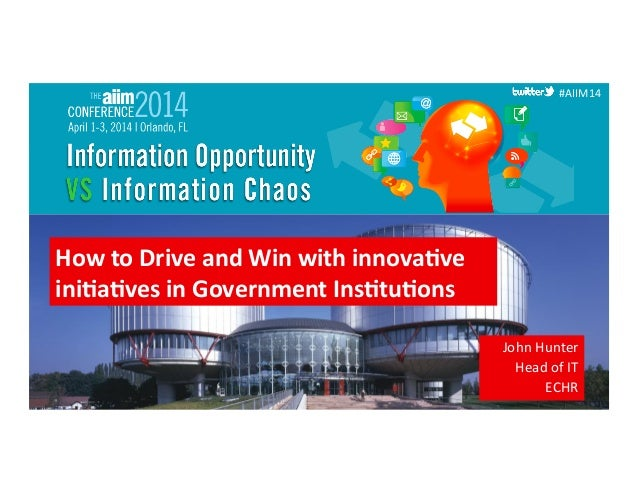 #AIIM14  #AIIM14   #AIIM14   How  to  Drive  and  Win  with  innova0ve   ini0a0ves  in  Government...